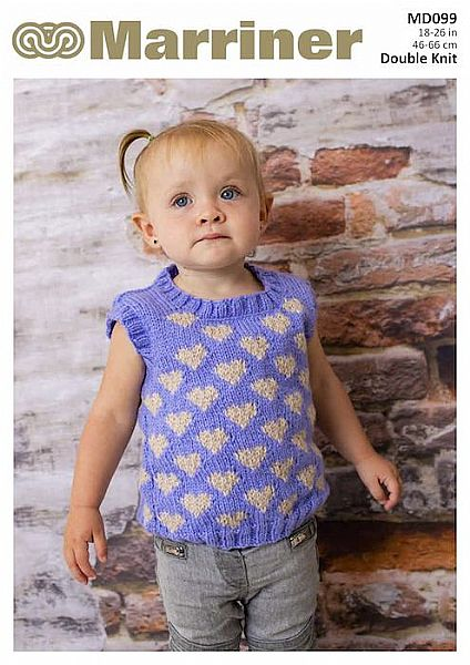 MD099 Baby Vest in Double Knit