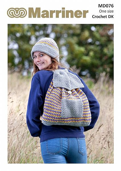 MD076 Crochet Hat and Rucksack in DK