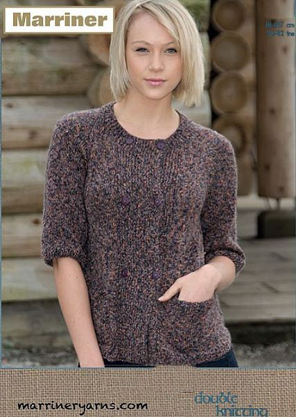 35490 Double Breasted Jacket in Marriner DK