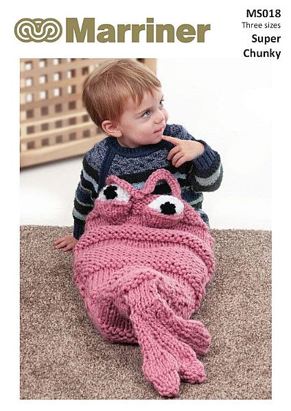 MS018 Shrimp Cocoon knitting pattern in Super Chunky