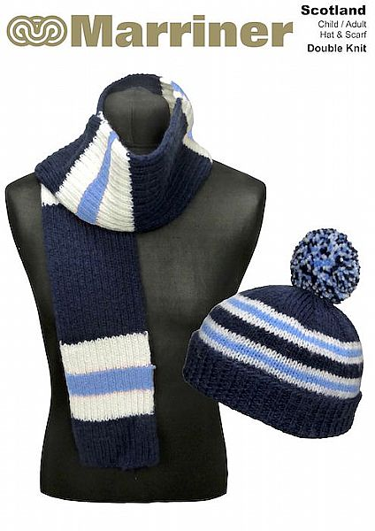 Scotland Hat & Scarf pattern in Double Knit