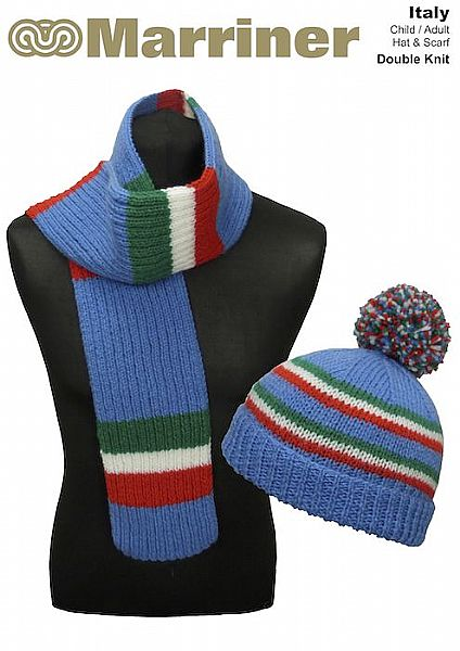 Italy Hat & Scarf pattern in Double Knit