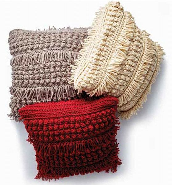 Bernat Tassel and Texture Crochet Cushion pattern