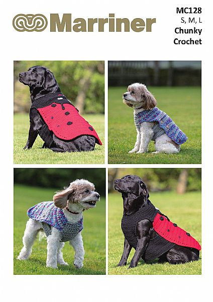 MC128 Crochet Chunky Dog Coats pattern