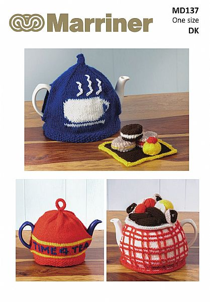 MD137 Tea Cosy pattern set in DK