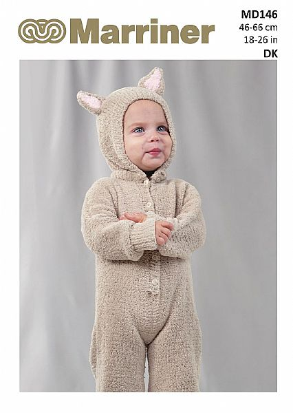 MD146 Mouse onesie kids pdf knitting pattern