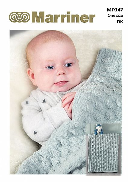 MD147 Bobble Edge & Cob Nut baby blankets pdf knitting pattern