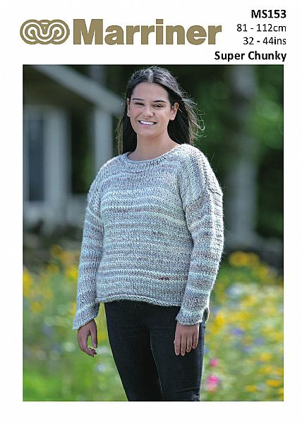 MS153 V-back Super Chunky pdf knitting pattern
