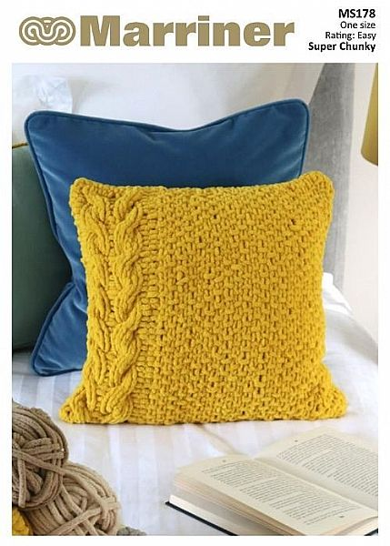 MS178 Get Cosy Blanket Yarn Cable Cushion Pattern