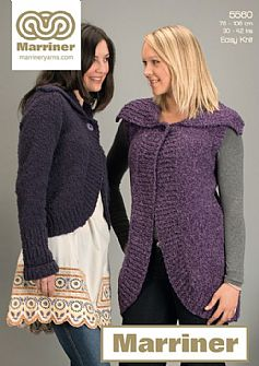 35571 Textured Jacket in Marriner Chunky