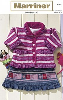 10964 Cardigan with Collar in DK