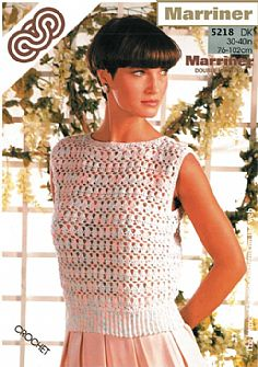 M5218 Crocheted Top Pattern in DK