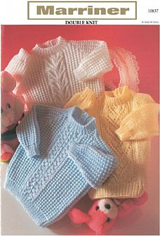 10837 Panelled Sweaters in DK