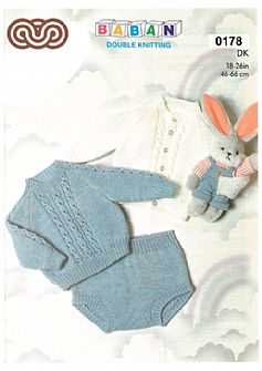 M0178 Jumper Cardigan and Pants in DK
