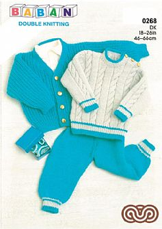 M0268 Cardigan Sweater and Pants in DK