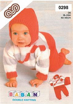 M0298 Sweater with detachable Hood & Pants in Dk