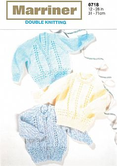 M0718 Sweater and Cardigans in DK