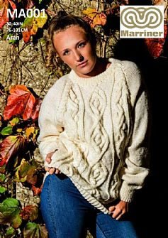MA001 Long Sleeved Jumper in Aran
