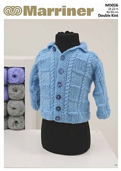 MD026 Baby Cardigan in Double Knit