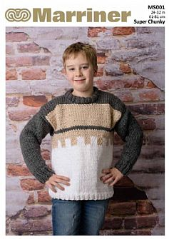 MS001 Contrast Kids' Jumper in Super Chunky