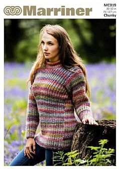 MC019 Roll Neck Jumper in Chunky