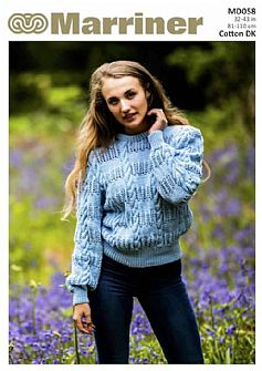 MD058 Lace and Cable Jumper in Double Knit