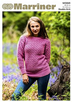 MD069 Textured Effect Jumper in Double Knit