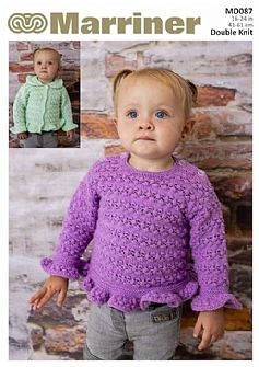 MD087 Baby Cardigan and Tunic in Double Knit