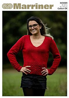 MD089 Broderie Border Jumper in Double Knit