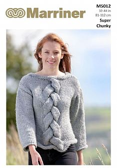 MS012 Cable Knit Sweater in Super Chunky