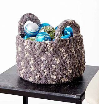 Bernat Woven Look Crochet Basket pattern