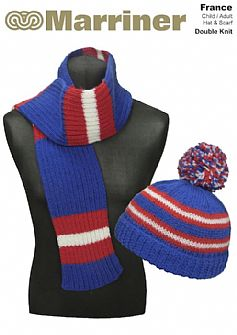 France Hat & Scarf pattern in Double Knit