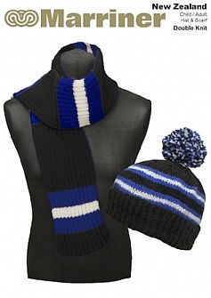 New Zealand Hat & Scarf pattern in Double Knit