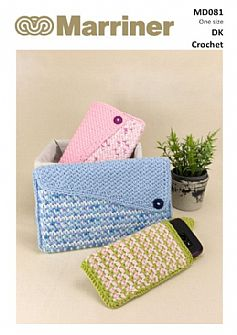 MD081 Crochet Tablet and Mobile Phone cases in DK