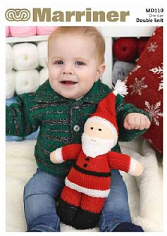 MD110 Santa Doll knitting pattern in DK