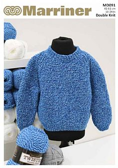 MD091 Children's Raglan Knit Jumper in DK