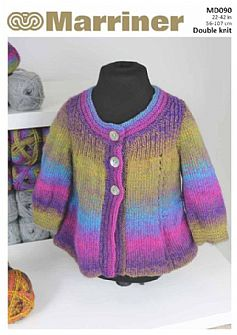 MD090 Children's Swing Knit Jacket in DK