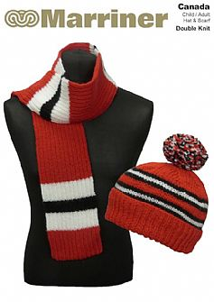 Canada Hat & Scarf pattern in Double Knit