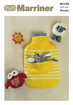 MC140 Hot Water Bottle Cover and Animal Toys in Chunky