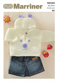 MD104 Hooded Teddy Bear Sweater in Double Knit