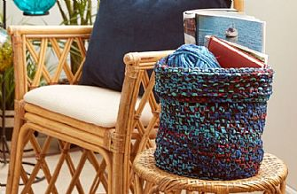 Bernat Boho Knit Basket pattern
