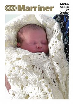 PDF download MD130 Crochet Baby DK Blanket pattern