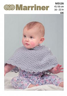 MD126 Baby Poncho and Booties DK pattern