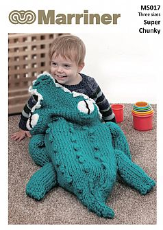 MS017 Crocodile Cocoon knitting pattern in Super Chunky