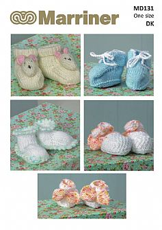 MD131 Cosy Toes Bootee set in DK