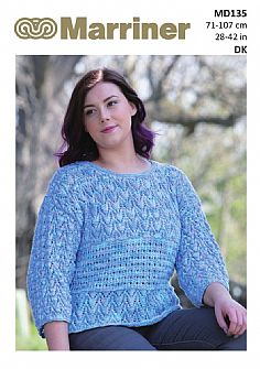 MD135 Boxy T-shaped Sweater in DK