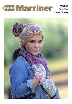 MS154 Hat Mitts and Cowl Super Chunky pdf knitting pattern