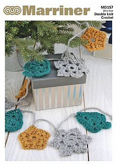 MD157 Christmas Motif Garland Crochet Pattern