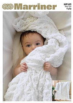 MP165 4 ply Baby Blanket Blanket Knitting pattern