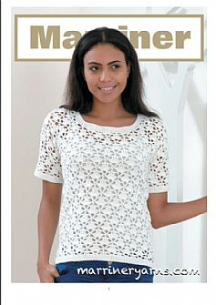 35718 Crochet Short Sleeve and Sleeveless top Pattern in Marriner DK
